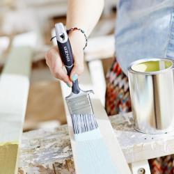 måla träplankor