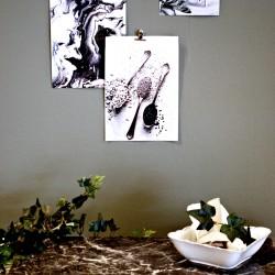 Marmorplatta dekoration